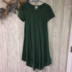 Lularoe dark green carly dress size XXS